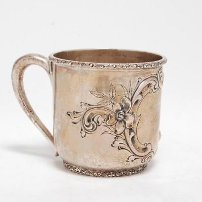 Antique Bailey Banks & Biddle Co.sterling Silver 3/4 Pint Mug/ Childs Cup
