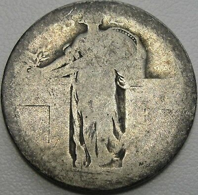 1916 or 1917 25C Standing Liberty Quarter, 90% Silver, #12307