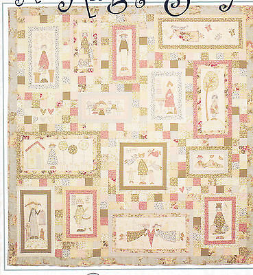 An Angels Story - pieced, applique & stitchery quilt PATTERN - Hatched & Patched