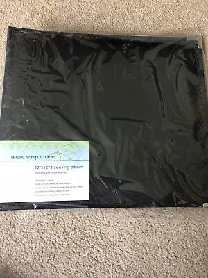Photo or scrapbook album. 12x12 three ring binder. Faux black leather. Brand new