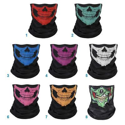 Skull Face Shield Mask Bandana Neck Scarf Headwear Face Tube Fishing Hunting Ski