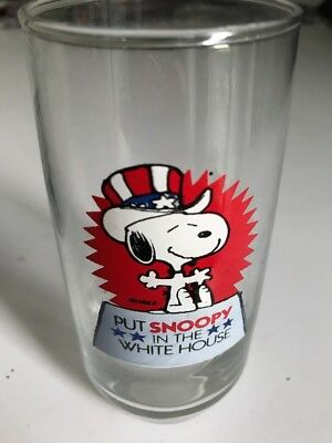 Vintage snoopy glass Put Snoopy in the White House