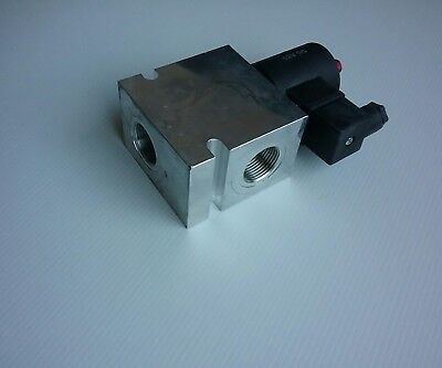 """12V  DC operated hydraulic check Valve 3/4"""" BSPP ports"""