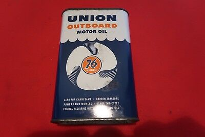 Vintage - Union 76 - Outboard Motor Oil Can lot 2