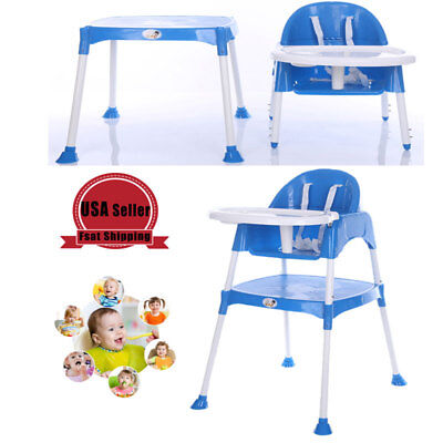 Baby Feeding Highchair Toddler Kids High Chair Convertible Table