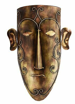 Mask Wall Hanging Premium Iron Lady / Man Mask For Homedecor 46cm