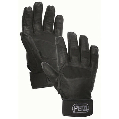 Petzl Cordex Plus Mens Gloves - Black Reinforced Leather All Sizes