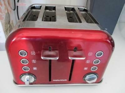 Morphy Richards Model: 242020 Red Accents 4 Slice Toaster