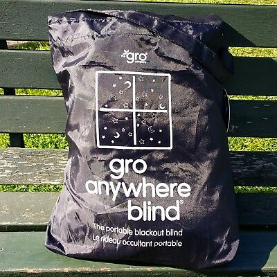 The Gro Company Gro Anywhere Portable Blackout Blind with Suction Cups 130 x 198