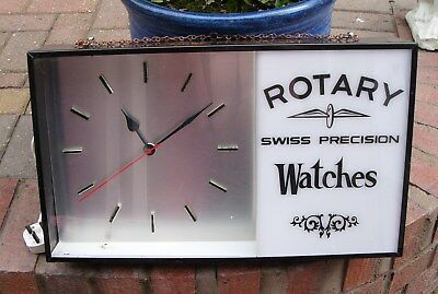 Vintage Large Rotary Watches Clock From Shop Display in Clean Working Condition