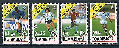 Gambia 1990 World Cup Football SG 1064/7 CTO