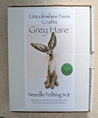 Grey Hare,needle Felting Kit By Lincolnshire Fenn Crafts, New