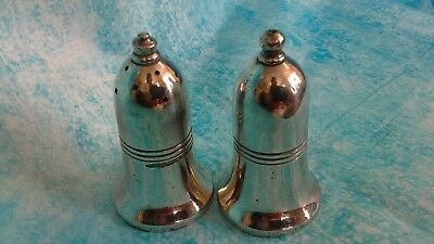 Vintage EPNS salt and pepper cellars/shakers - good quality Sheffield made