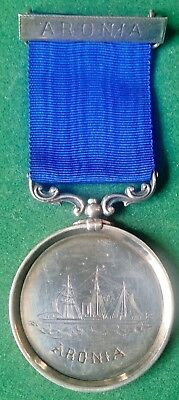 Victorian Life Saving Medal,ernest Tyas,life Saving Grimsby 1889, The Aronia
