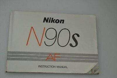 ORIGINAL NIKON N90s INSTRUCTIONS MANUAL, COMPLETE, VERY GOOD CONDITION