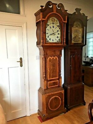 Lovely Mahogany Longcase Grandfather Clock Circa 1800