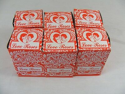 "Last Listing! 6 Boxes of 36 Total 216 Silk Love Roses 4"" Glass Tubes"