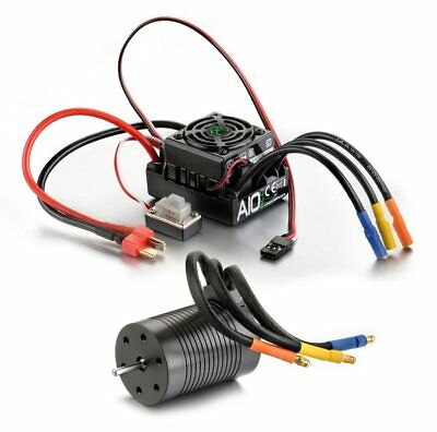 Absima 2120002 – 1: 10 RC Car Brushless Combo Set Thrust Bleco