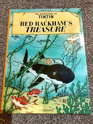 Herge the Adventures of Tintin Red Rackham's Treasure, paperback. Trusted seller