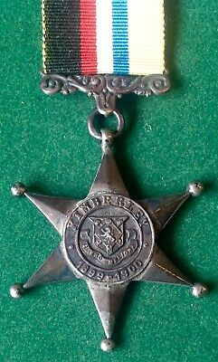 Boer War, 100% Genuine Kimberly Star, Letter A Hallmark 1900, Named To G.c.day