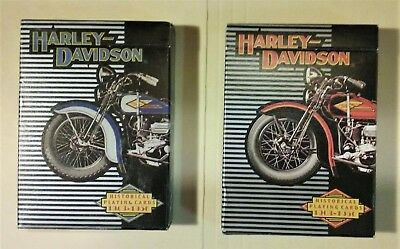 Harley Davidson Motorcycles Playing Cards HISTORICAL 1903-1950 2 Different Decks