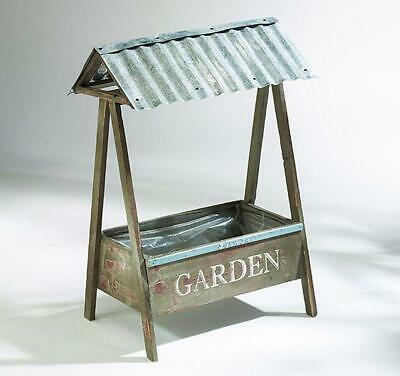 G2240: Nostalgia Planting Rack, Covered Window Box Wooden in Country House Style
