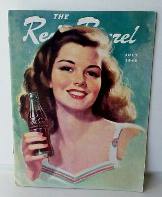 July 1948 The Red Barrel, Drink Coca Cola Magazine. Beautiful Lady Drinking Coke