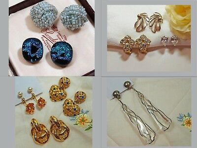 Job Lot of Vintage Clip On Earrings