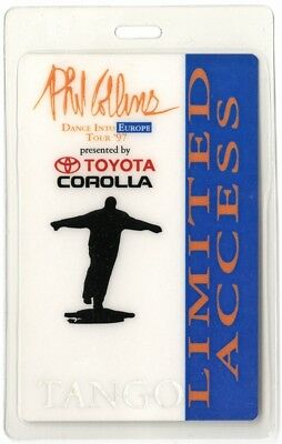 Phil Collins authentic 1997 Laminated Backstage Pass Dance Into Europe Tour