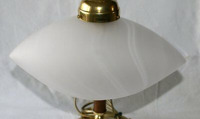 G1027: Art Deco Lampshade Glasschirm, Satin Finish Milky White with Schlieren
