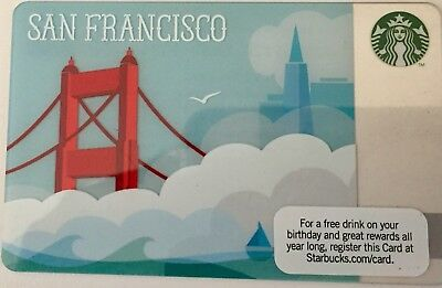Starbucks Rare 2010 San Francisco Golden Gate Bridge Gift Card New