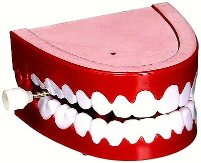 1-Vintage Wind Up Chatter  FAKE Teeth - CHOPPERS TOYS JOKE FUNNY GAG