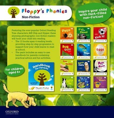 Very Good, Floppy's Phonics Non-Fiction 13 Books set With Handbook For Parents (