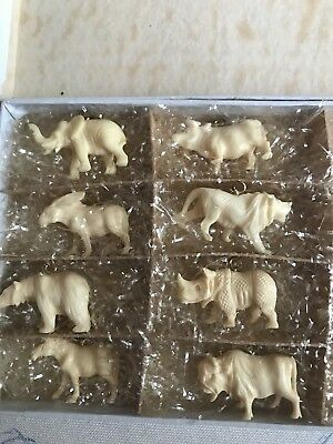 Vintage Ivory Resin Animal Collection made in Japan