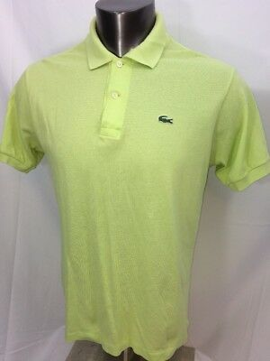 b9562aaa LACOSTE POLO MEN'S Size 5 Red Short Sleeve Green Croc - $8.25 | PicClick