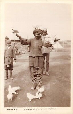 India Ethnic A Pigeon Tamer Of North West Frontier' Native Man & Pigeons Card