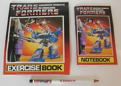 Transformers Notebook / Exercise Book / Pencil, 1984, RARE!!!