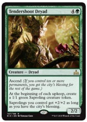 Tendershoot Dryad -147/196 - Rivals of Ixalan - NM/M