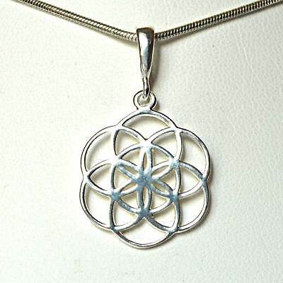 Small Seed of Life Sterling Silver Flower of Life Pendant~Sacred Geometry~Reiki