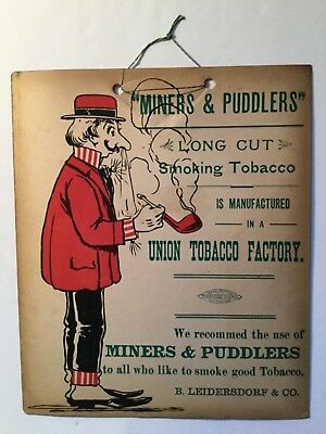 Miners & Puddlers Hanging Tobacco Sign