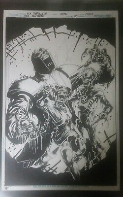 Red Lanterns issue 9 original cover art. Zombie Lantern cover