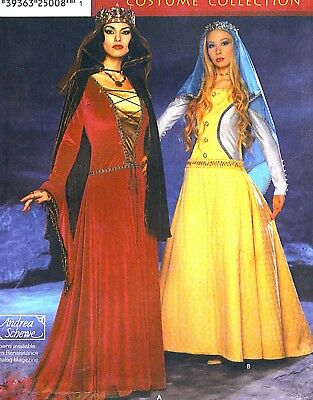 OOP! MISS MEDIEVAL GOWNS CAPES VEILS COSTUME SEWING PATTERN 6-12 ...