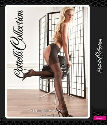 Collant aperto Crotchless Tights Cottelli Lingerie Sexy shop toy Intimo calze xx