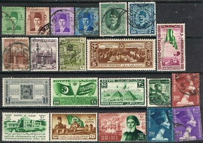 Egypt. Earlier issues. Mixed selection and condition.