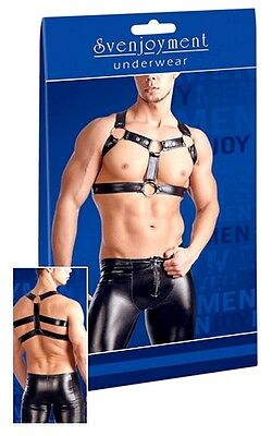 Sexy Imbracatura uomo nera Chest Harness Svenjoyment Sexy shop toy fetish erotic