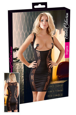 Sexy Mini abito nero Dress Curve Up Cottelli Sex shop toys Lingerie Donna erotic
