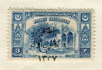 TURKEY; 1922 early Views surcharged issue fine mint 3pi. value