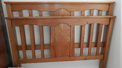 Silky Oak Antique Double Bed Head & End