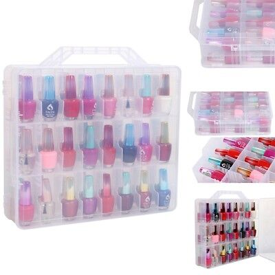 Nail Polish Holder Display Container Case Organizer Storage 48 Lattice Salon!