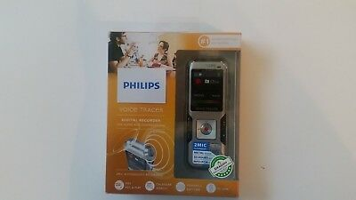 Digital Recorder Philips Model DVT4000 Voice Tracer 4 GB, Silver, NEW
